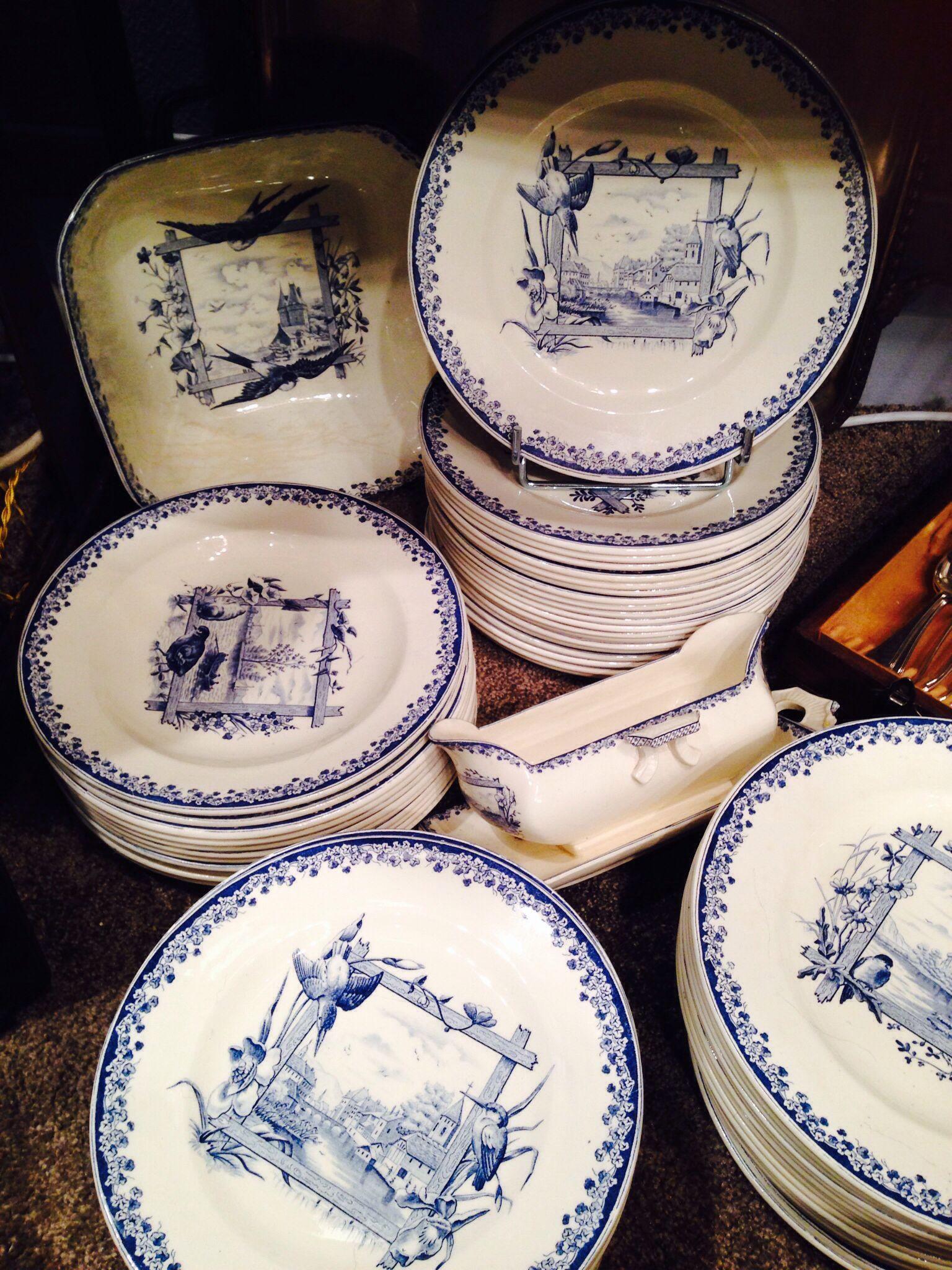 Les tables d Eva faïence de Salins... Vers 1900