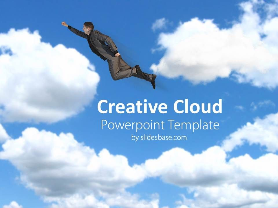 Creative Cloud Sky Flying Creative Business Powerpoint Template1 1