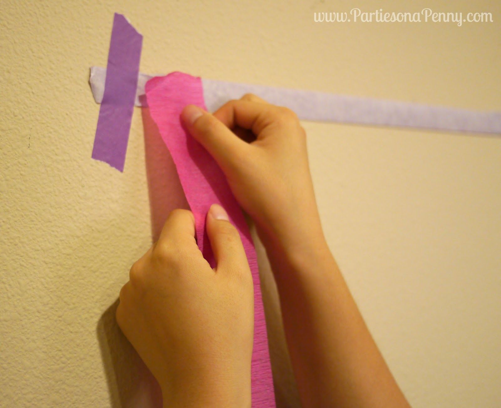 Parties On A Penny: Easy DIY Streamer Backdrop | birthday Party ...