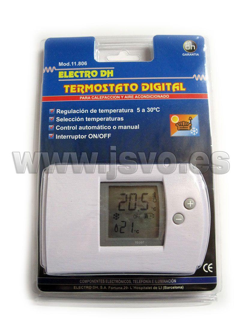 Termostato con pantalla LCD Electro DH Mod. 11.806 apto
