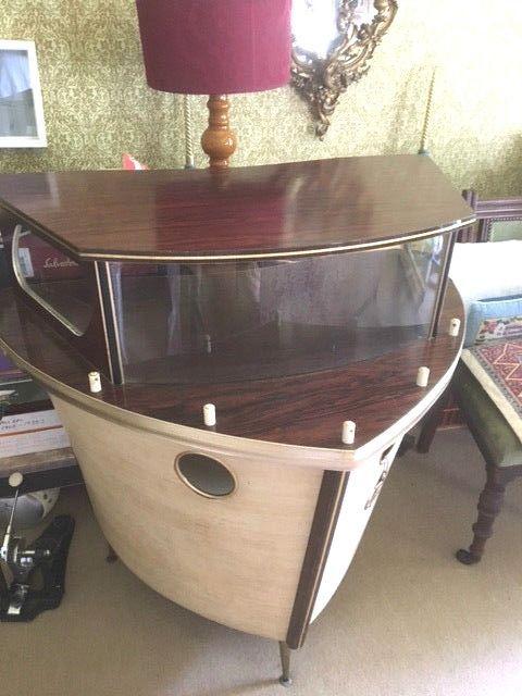 Vintage 1950s 1060s Retro Vintage Boat Bar Cocktail Bar Drinks Cabinet Home Cocktail Bar Drinks Cabinet Boat Bar