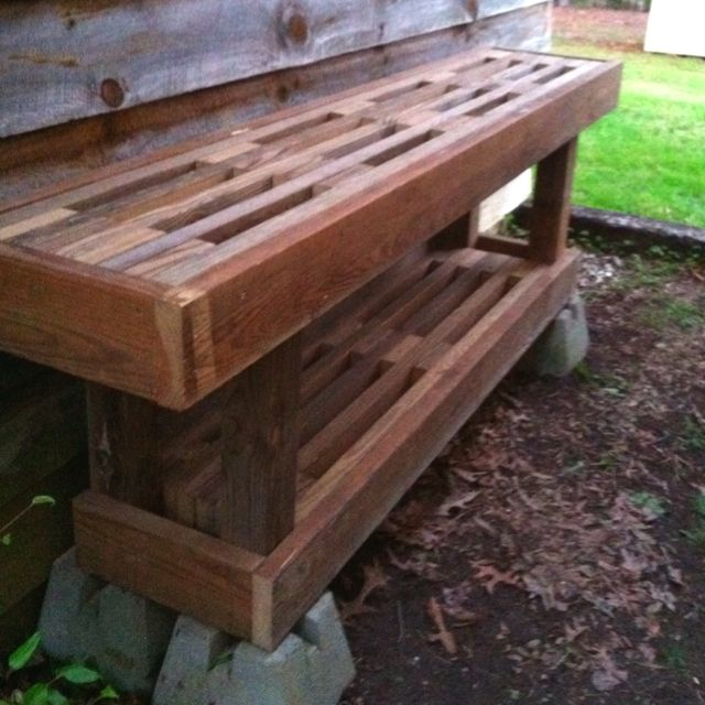 Do It Yourself Home Design: Potting Table Made From Recycled Deck Boards