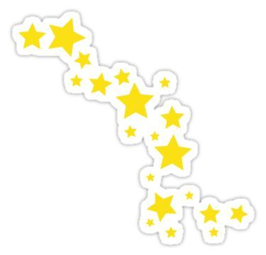 Yellow Stars Sticker