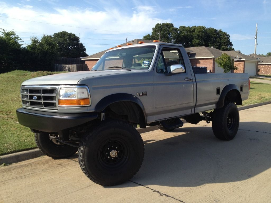 Single cab long bed toyota 4x4 1995 f 350 lifted 460 single cab