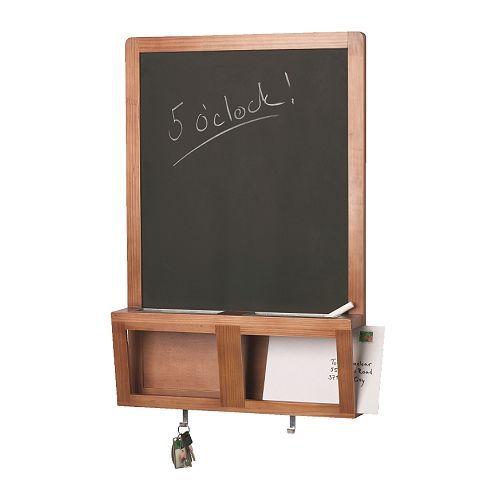 luns tableau noir magntique ikea avec rangement pour clefs courrier et votre tlphone portable. Black Bedroom Furniture Sets. Home Design Ideas