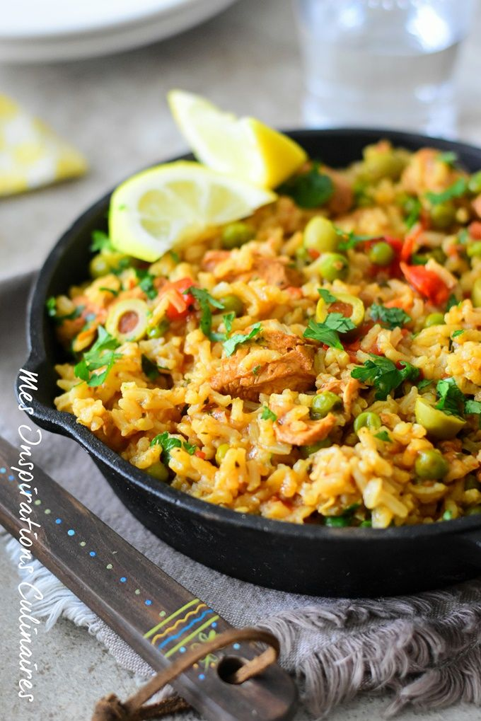 riz a l 39 espagnol arroz con pollo recette recettes. Black Bedroom Furniture Sets. Home Design Ideas