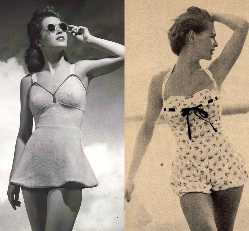 Women vintage swimwear 60s Swimsuits,