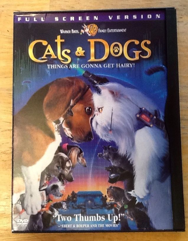 Cats & Dogs, DVD Full Screen Version, Cats and Dogs Movie