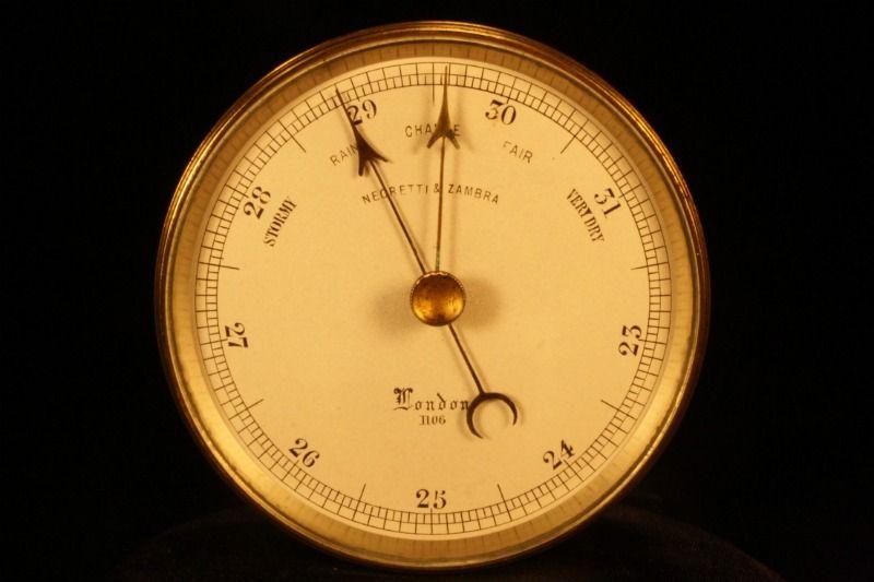 """POCKLINGTON"" - EARLY POCKET BAROMETER BY NEGRETTI & ZAMBRA c1860 - For Sale - A rare first pattern pocket barometer in original leather case by Negretti & Zambra, No 1106, c1860"