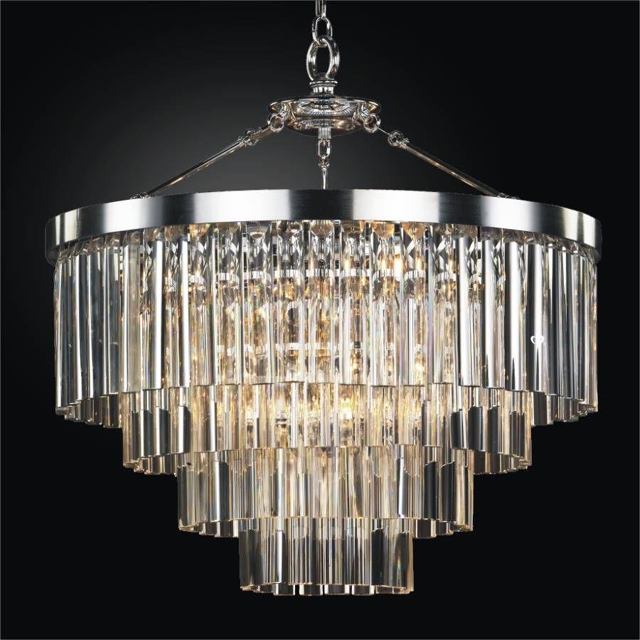 Gallery Palladium Crystal Glass 17 light 5 tier Contemporary Chandelier