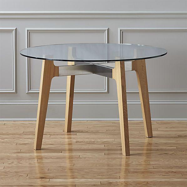 Brace Dining Table CB No Se Que Sillas Poner Con Esto - Cb2 round glass table