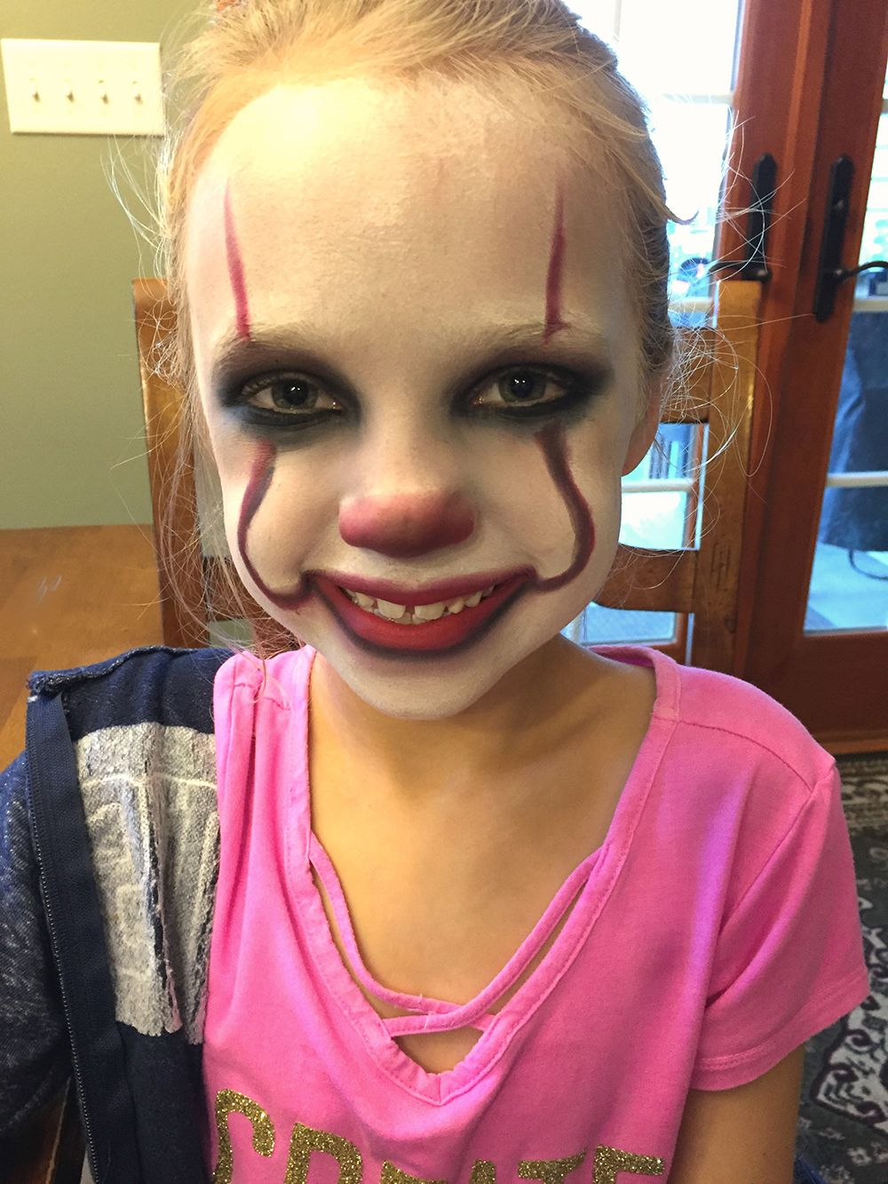 IT Movie Pennywise Makeup Tutorial for Kids Cute