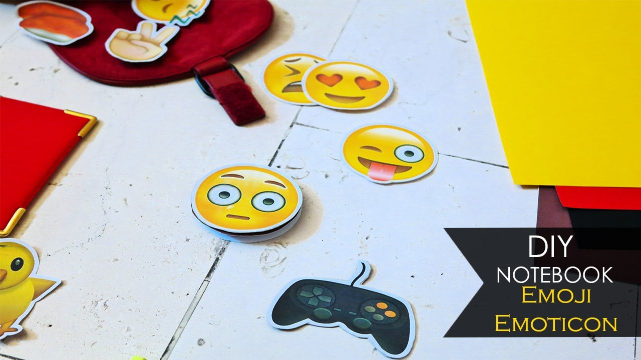 Diy Notebook Emoji Diy Notebook Diy Crafts For Kids Emoticon