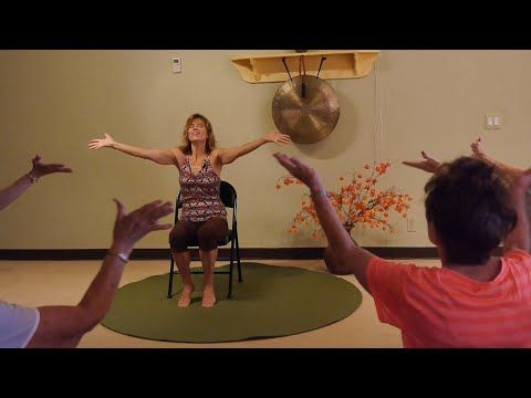 Happy Together A Chair Yoga Dance We All Can Do Together With Sherry Zak Morris Youtube Chair Yoga Yoga For Kids Partner Yoga