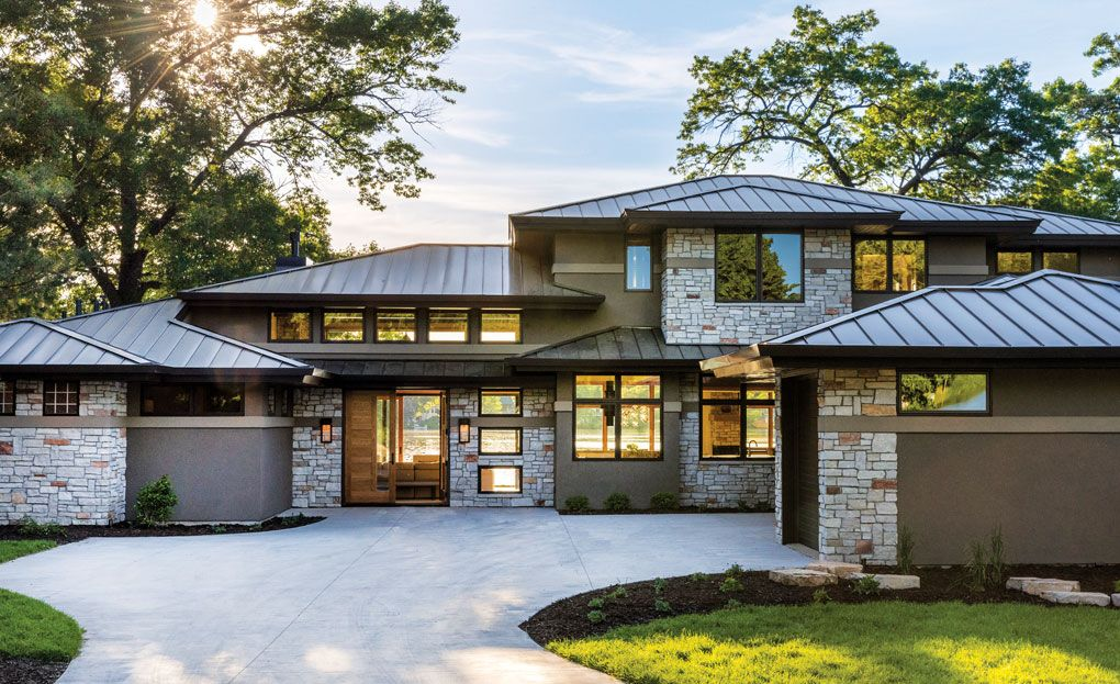 A Prairie Style Home By Bruce Lenzen Design Build Midwest Home Prairie Style Houses Modern Prairie Home Modern Style House Plans