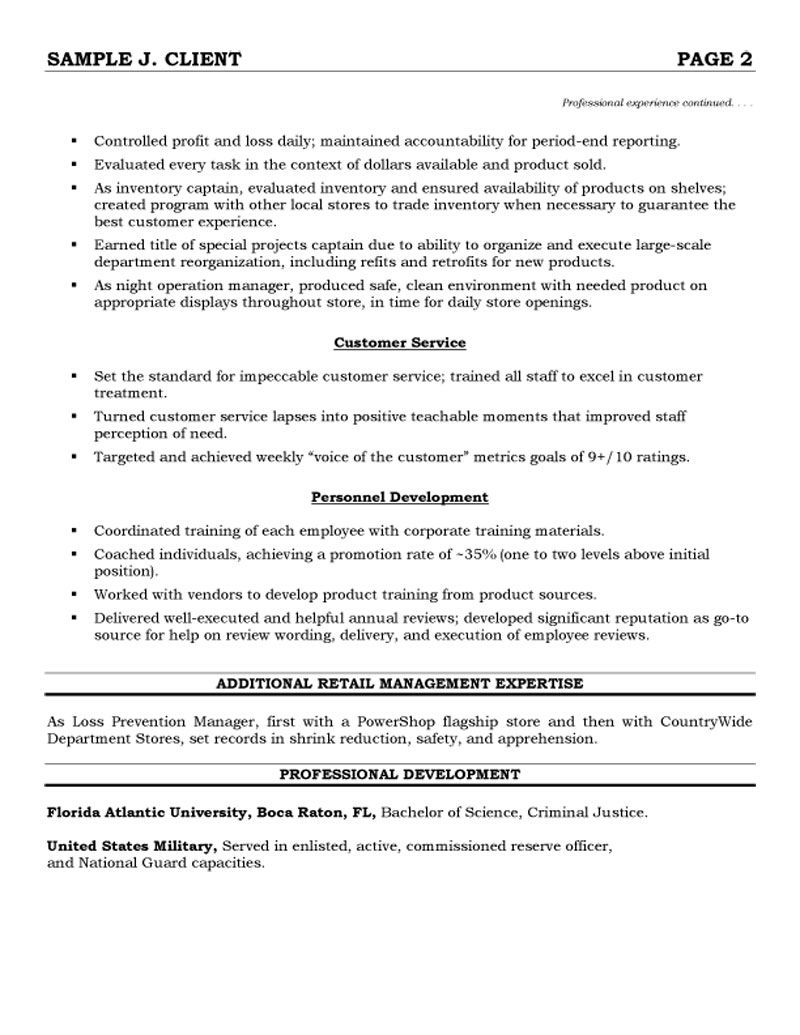 Retail Management Resume Customer Service Supervisor Resume Cover Letter Samples Genius