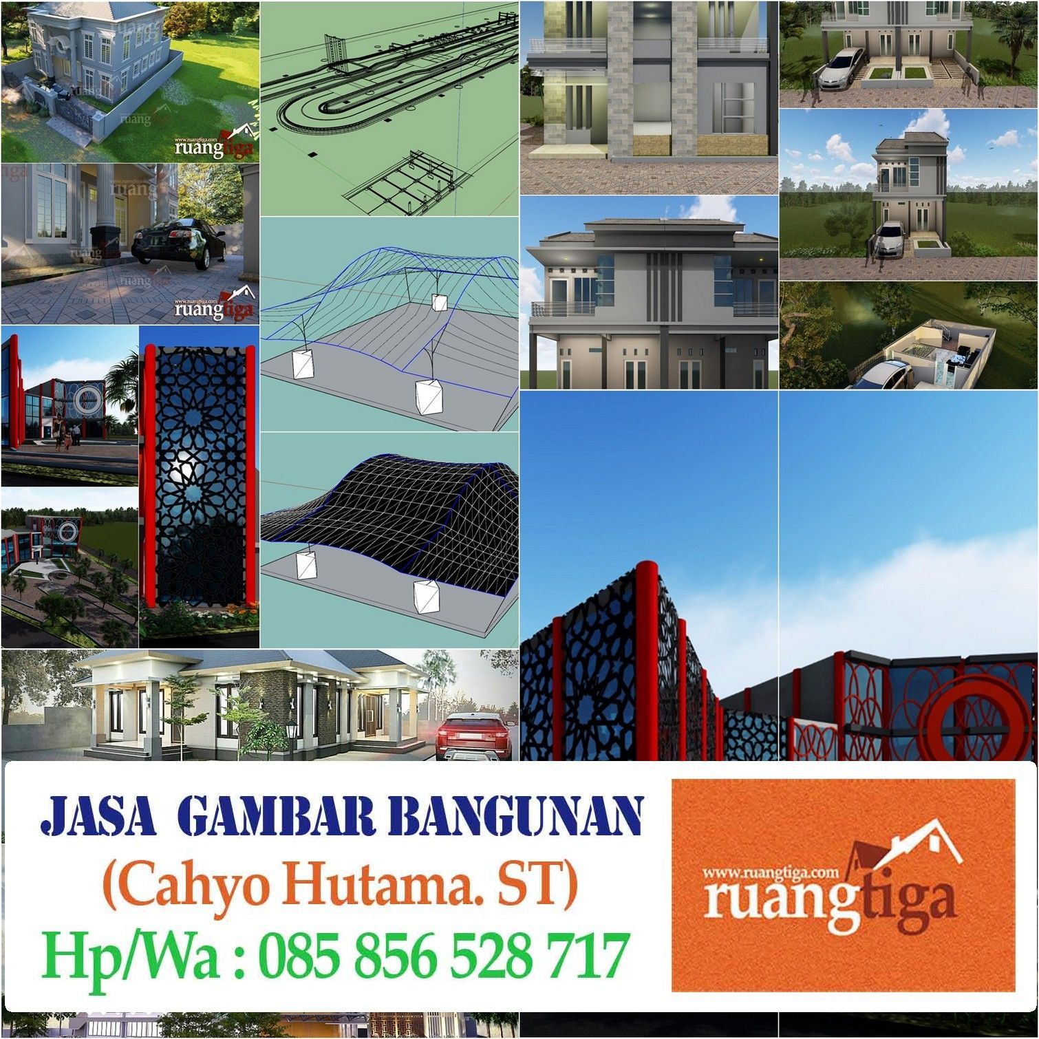 085856528717 Jasa Render Arsitektur 3D Profesional