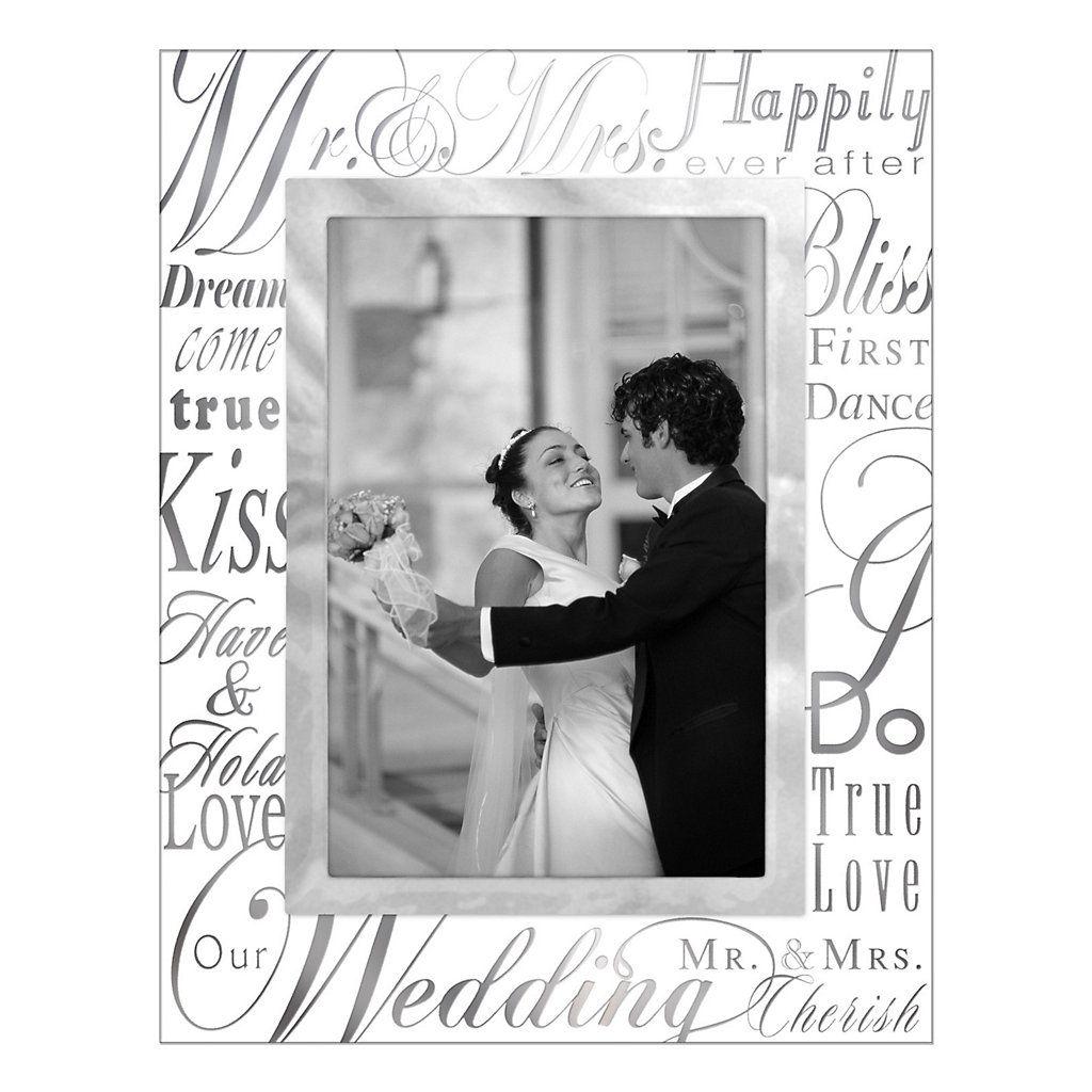 Malden Quot Mr Amp Mrs Quot Glass 4 Quot X 6 Quot Frame Wedding Picture Frames Wedding Frames Frame