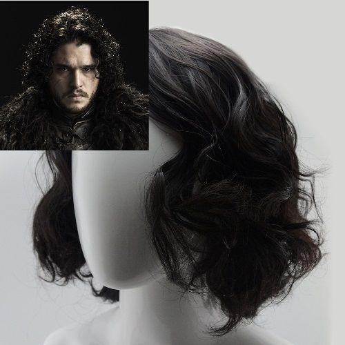 Jon Snow Wig Game Of Thrones Short Black Curly Mens Halloween Costume Accessory Jonsnowwig Jon Snow Wig Mens Halloween Costumes Halloween Costume Accessories