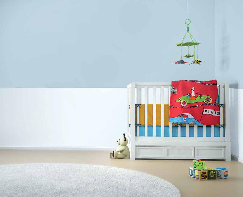 Dipingere Camerette Per Bambini e' importante utilizzando colori diversi, dividere gli spazi