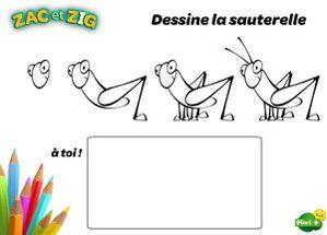 Apprends dessiner la sauterelle how to draw - Sauterelle dessin ...
