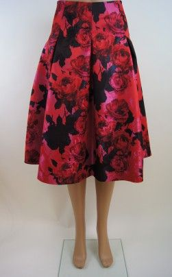 Sara Campbell Floral Skirt, Made in america