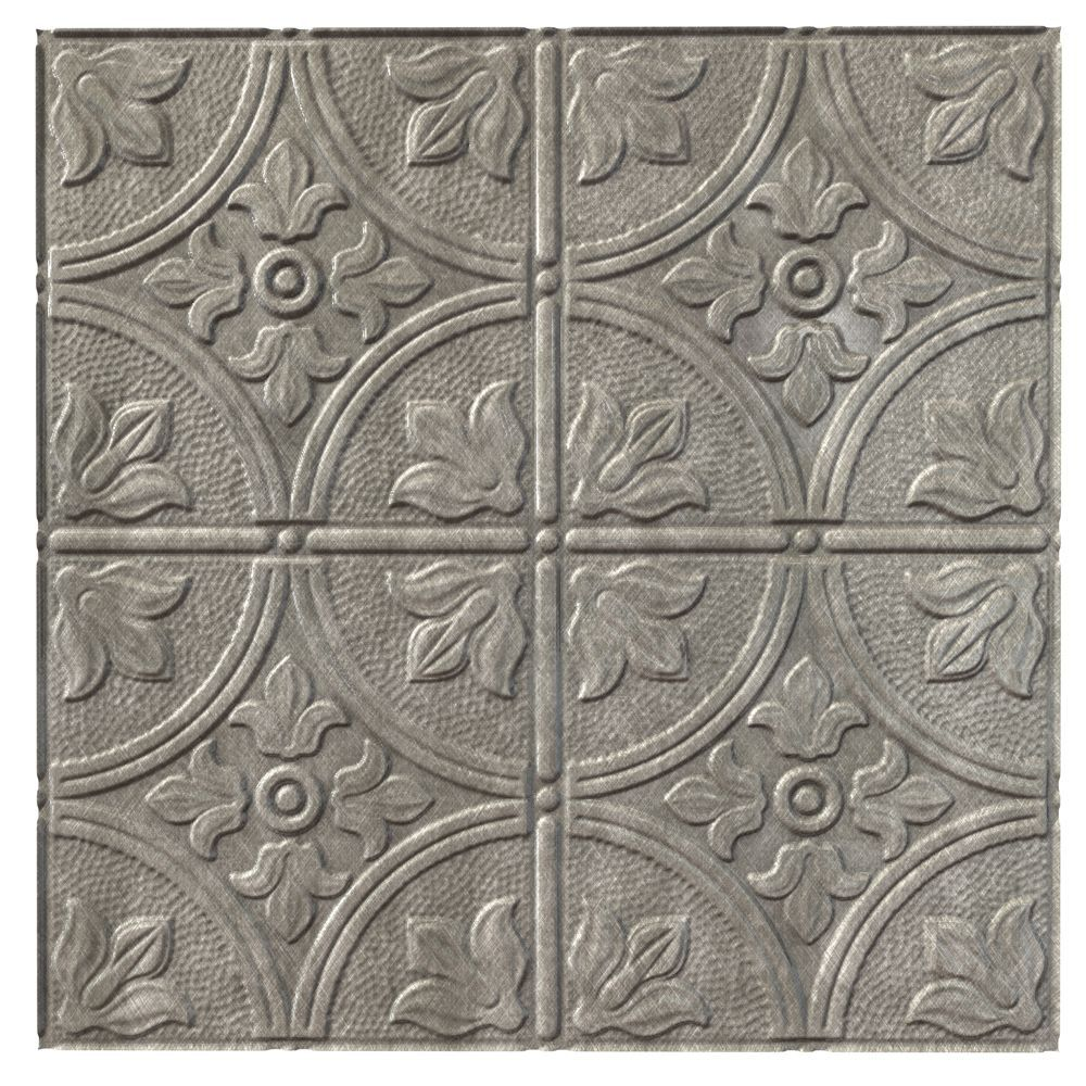 Traditional 2 Cross Hatch Silver Ceiling Tile 2x2 Ceiling Tiles