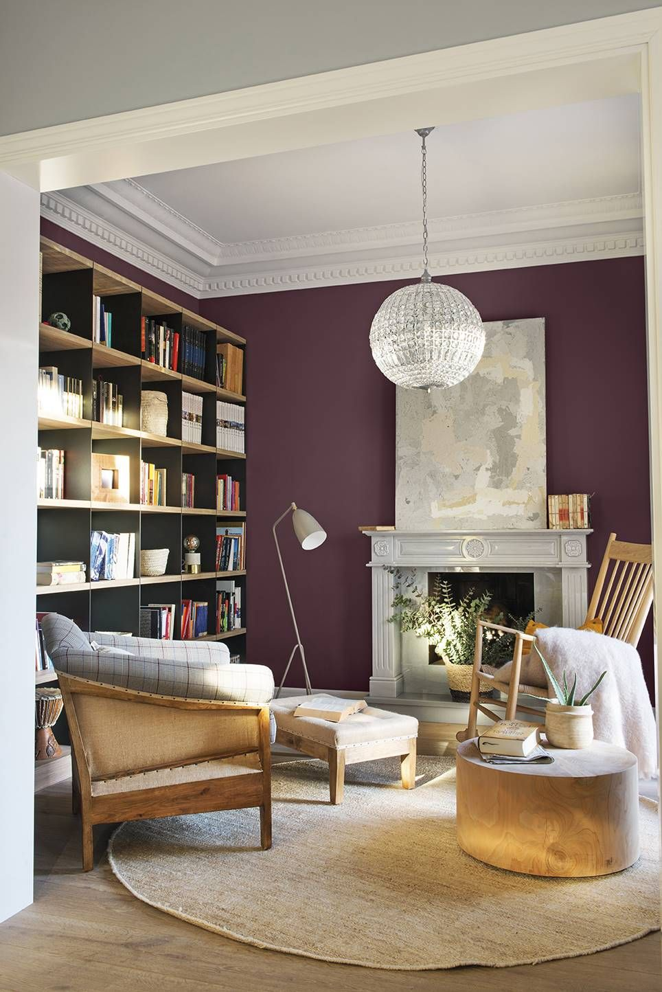 Una chimenea delicada y natural  Éclairage du salon, Salons cosy