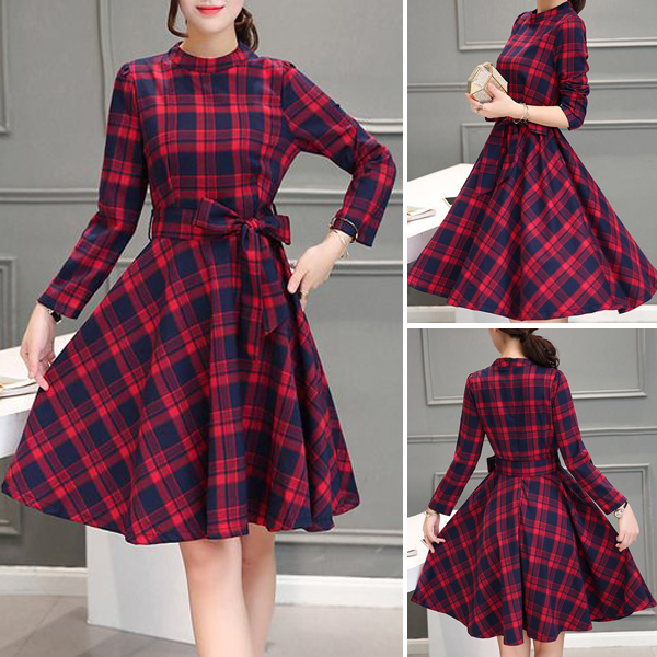e0375a4d3b5a i LOVE RETRO AND PLAID ♥ | Mau dam | Fashion dresses, Dress outfits ...
