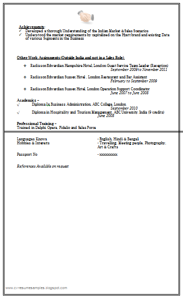 Sales U0026 Marketing Resume Sample Doc ...  Resume Sample Doc