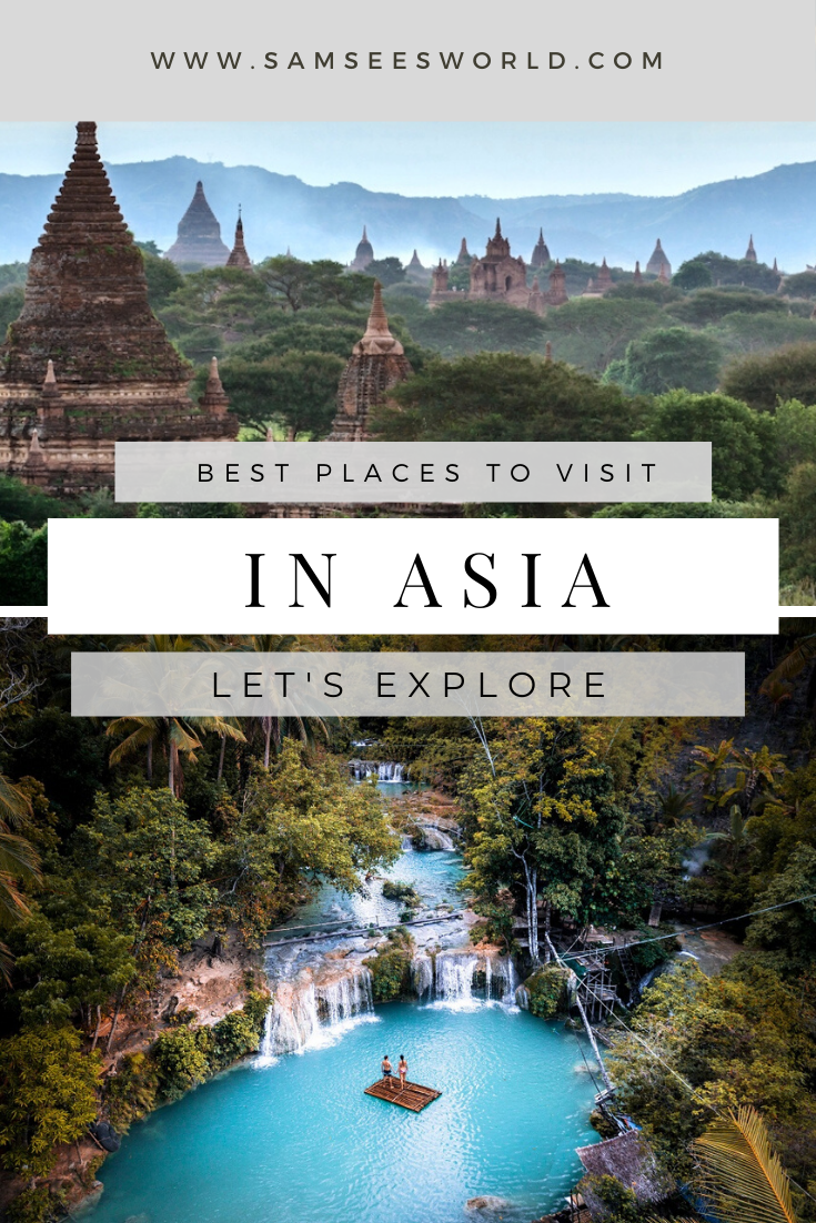 Here is a list of the top 20 most beautiful places to visit in Asia. Feed your wanderlust and check out this list, you might even get inspired to book your next trip. #Asia #Travel