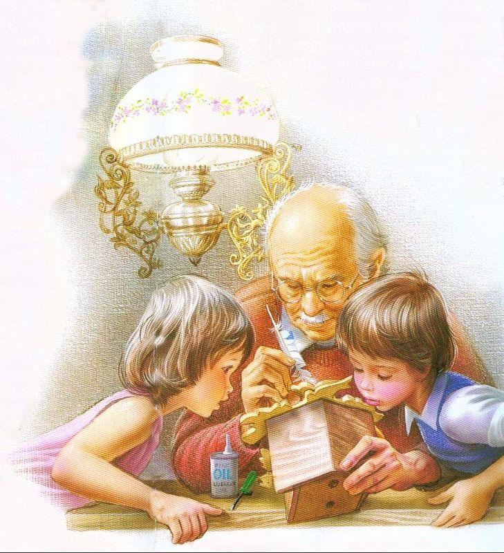 Бабушка и дедушка с внуками картинки для детей