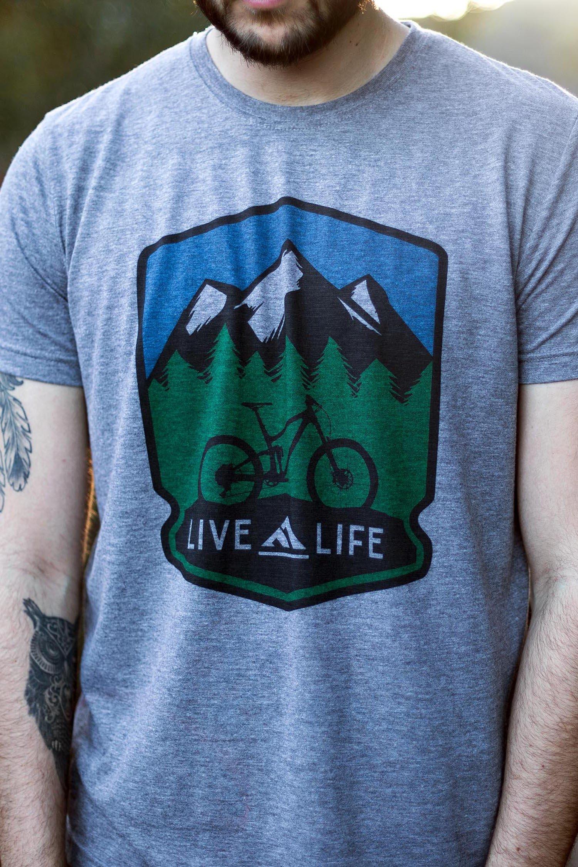 Bike Life  Men s Grey T-Shirt Clothing Co 0f171eb28