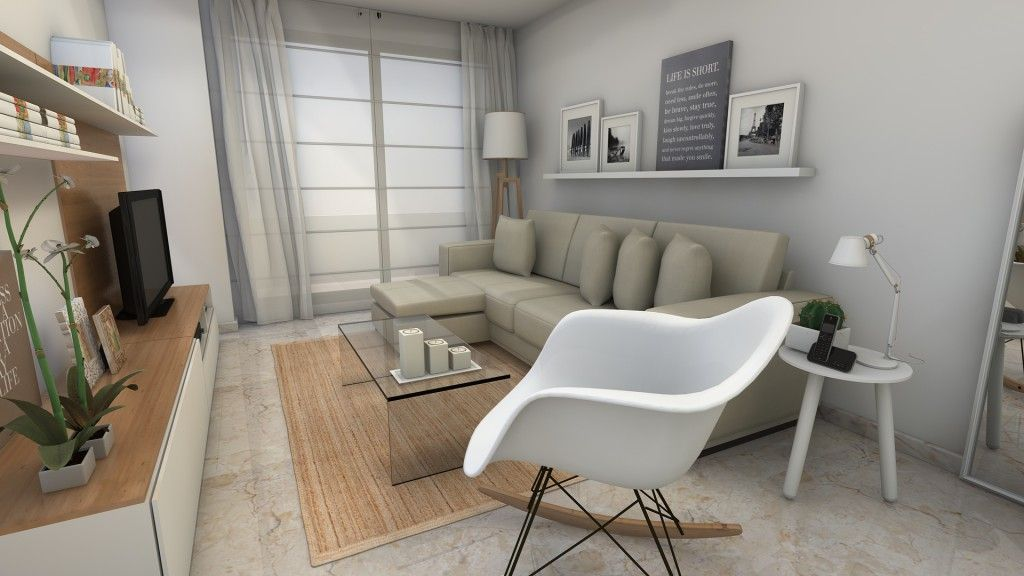 Proyecto Interiorismo: Un salón de estilo nórdico.