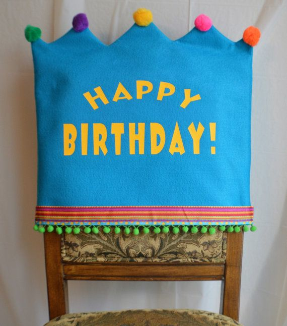 Happy Birthday Chair Cover By Joyfulldelights On Etsy