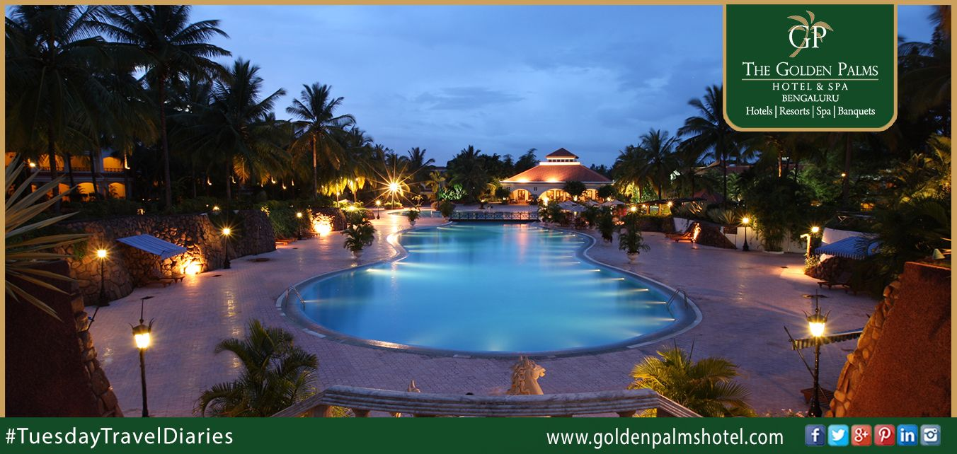 Contributing extravagant range of services and modern amenities, @Golden is an ideal destination in Bengaluru that provides guests with remarkable and truly unforgettable experiences. Visit: www.goldenpalmshotel.com for more details. #TuesdayTravelDiaries