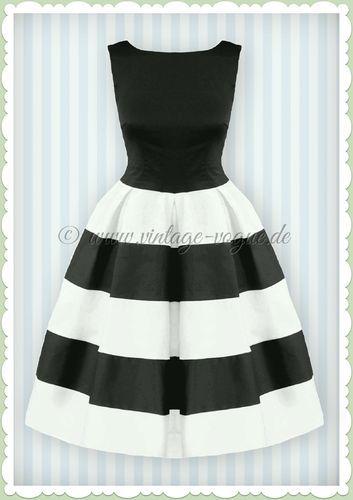 Kleid hochzeitsgast schwarz weib