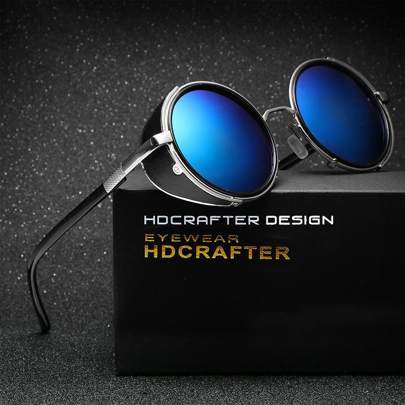 73fd081f23 HDCRAFTER Brand Unisex Retro Alloy Sunglasses Oval Glasses Eyewear  Accessories For Men Women