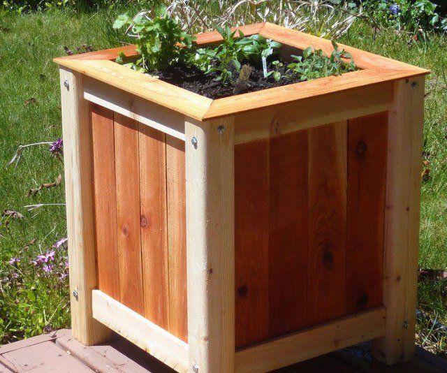bac-fleurs-bois-fabriquer-soi-même-étapes-faciles Bois Pinterest