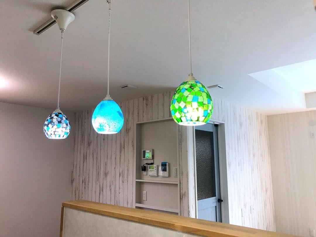 ステンドグラスが綺麗なペンダントライト Pendant Light Decor