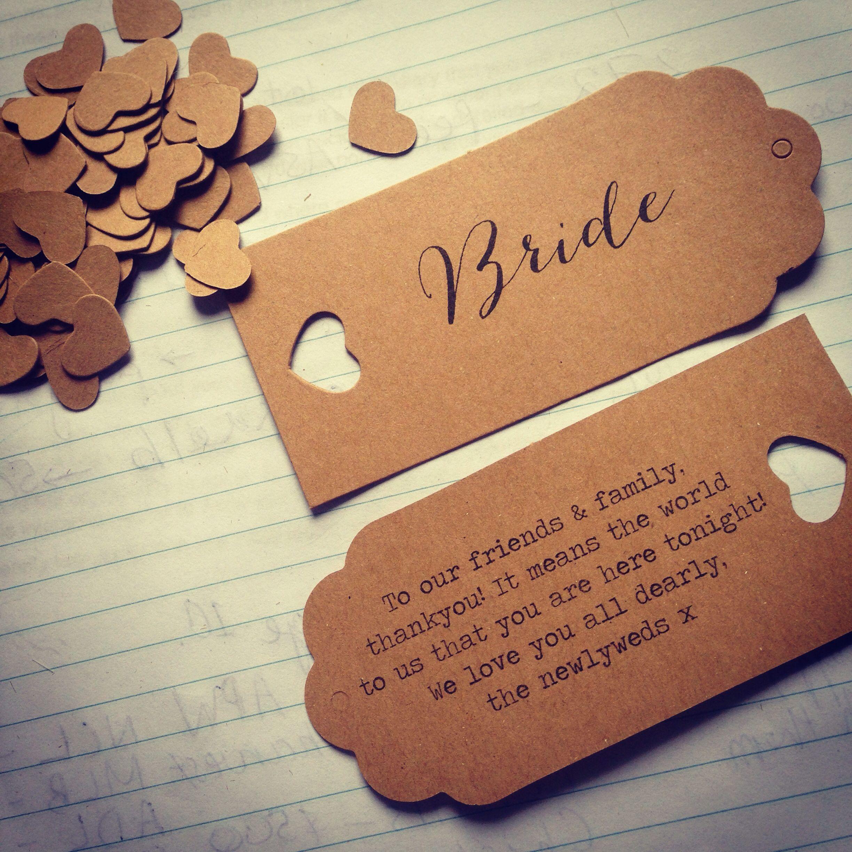Wedding Placecard Brown Tag Rustic Wedding Placecard, Country Wedding Placecard,