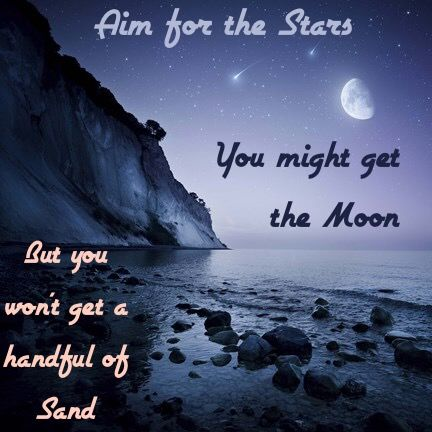 Aim For The Stars Inspirational Quote Aim To Be Like Jesus Great