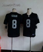 Oakland Raiders #8 Matt Schaub Elite Black Jersey