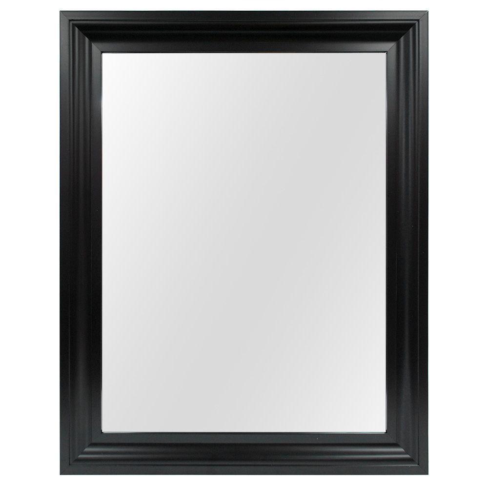 Glacier Bay 48 in. x 36 in. Beveled Framed Wall Mirror-901360 ...