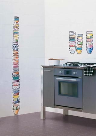 piastrelle in ceramica decorata a mano rivestimento bagno cucina ...