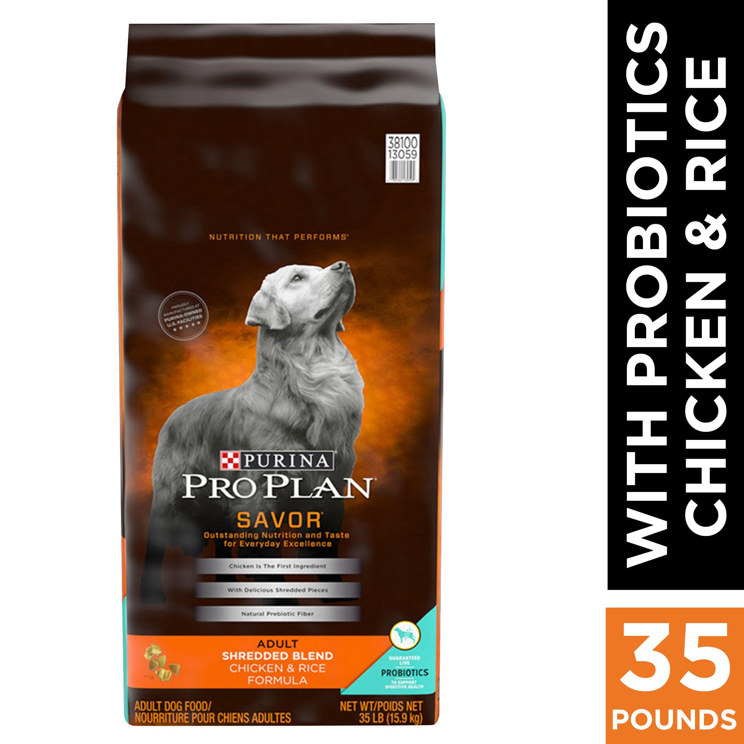Purina Pro Plan With Probiotics Dry Dog Food Savor Shredded Blend
