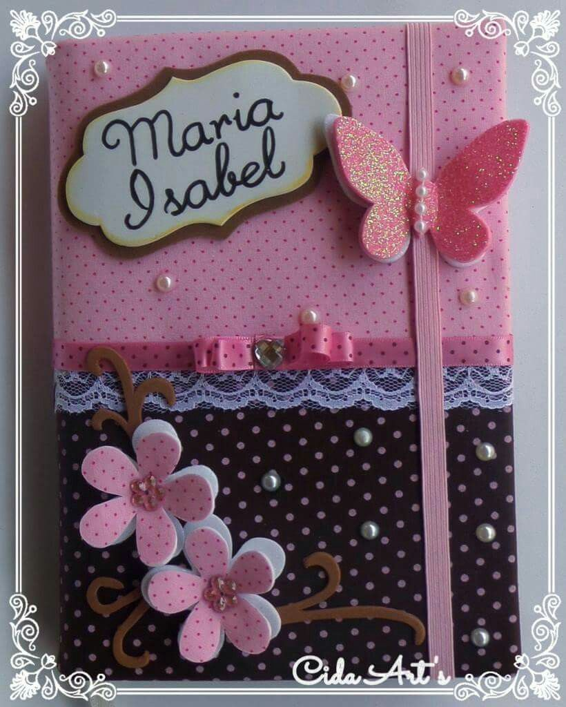 Funda de cuaderno libro firma baby shower pinterest - Archivadores decorados ...