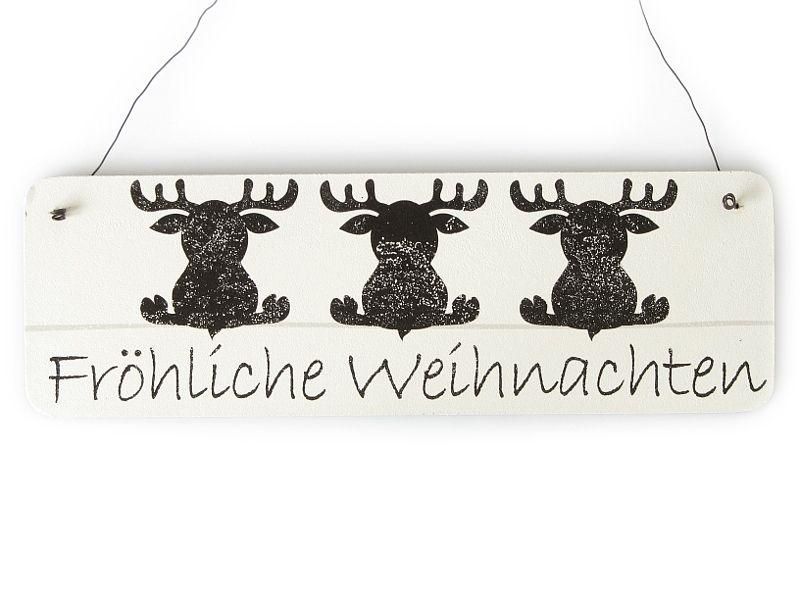 Holzschild Bild Christmas Weihnachten  Frohe Weihnachten.... Shabby Vintage