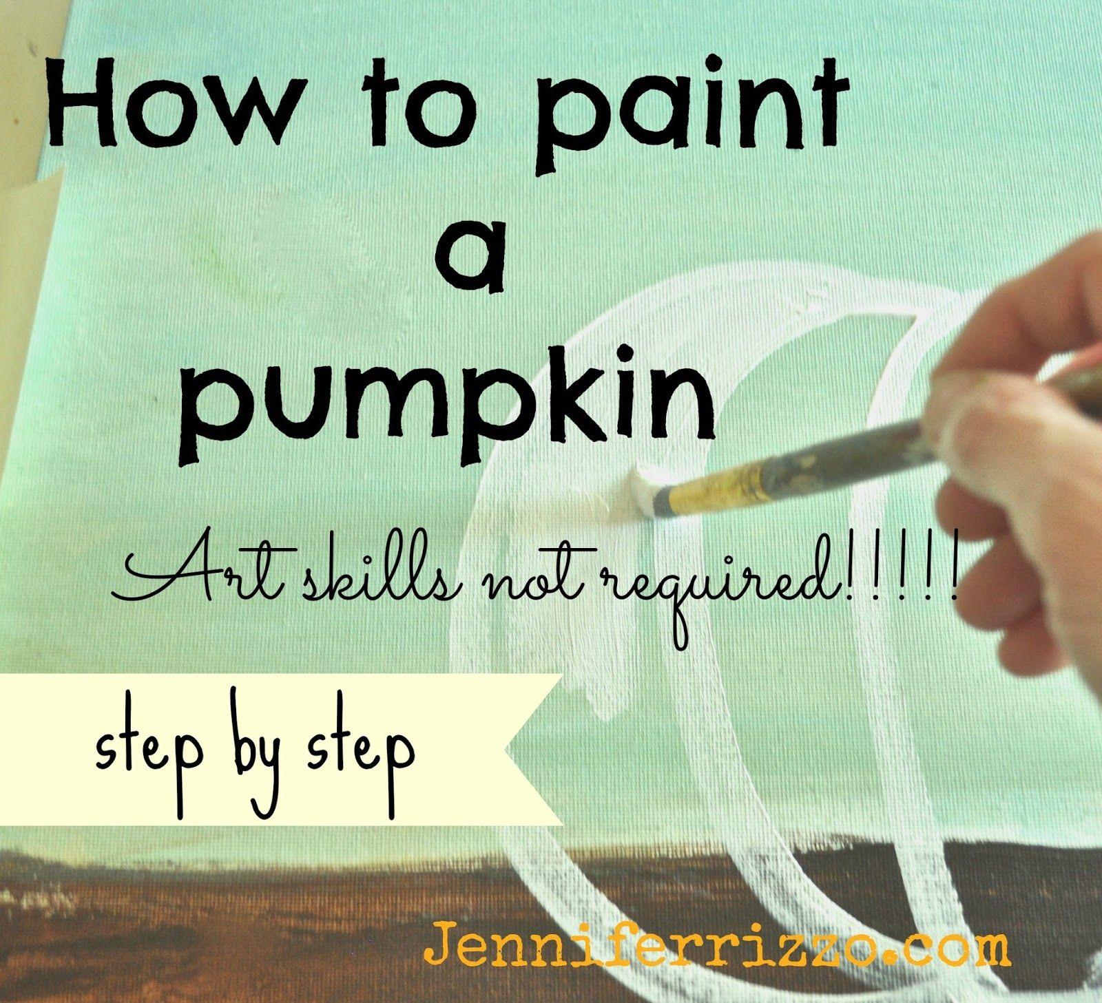 How To Paint A Pumpkin Canvas Art Skills Not Required Art - How to paint a pumpkin