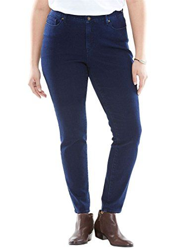 6e5e91cd408 Bargain Catalog Outlet Woman Within Plus Size No-Gap Skinny Jeans ...